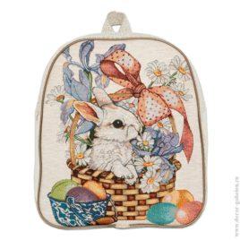 Кролик (35х30х9 см) — рюкзак гобеленовый