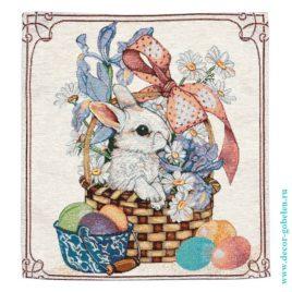 Пасхальный кролик (38х38 см) — салфетка декоративная