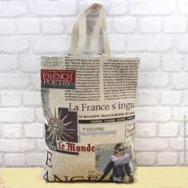 Газета (37х42 см) — сумка гобеленовая
