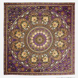 Павлово-Посадский платок (сиреневый) 235х235 см — панно гобеленовое