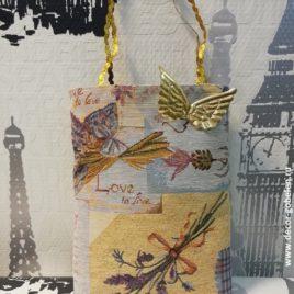 Лаванда (20х25 см) — сумочка подарочная гобеленовая