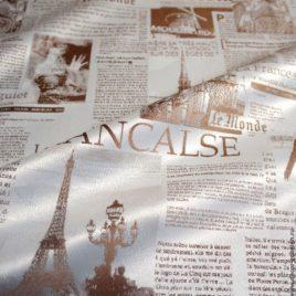 Газета (беж) 145х280 — комплект штор
