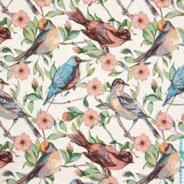 Птички (150 см) — ткань декоративная