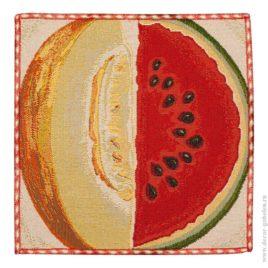 Дыня-арбуз (26х26 см) — салфетка декоративная