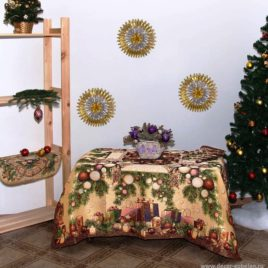 Новогодний (160х160 см) — комплект гобеленовый