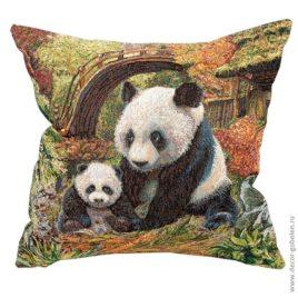 Панды (50х50 см) — наволочка гобеленовая