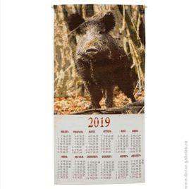 Кабан (36х73 см) — календарь гобеленовый