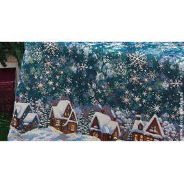 Снежные домики (250х220 см) — покрывало декоративное