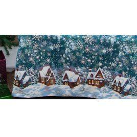 Снежные домики (150х220 см) — покрывало декоративное