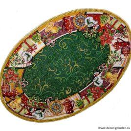 К празднику (75х50 см) — салфетка гобеленовая с тесьмой