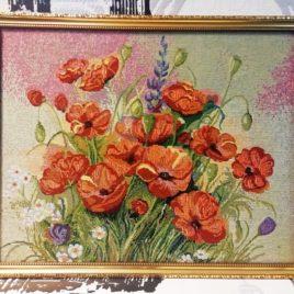 Маковый цвет (50х40 см) — картина в багете
