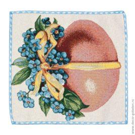 Пасхальное яичко розовое (26х26 см) — комплект салфеток 4 шт