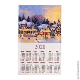 Волшебный вечер (36х65 см) — календарь гобеленовый