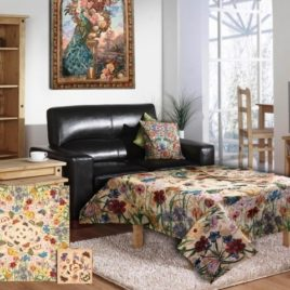 Луговые цветы (160х160 см) — комплект скатерть с салфетками