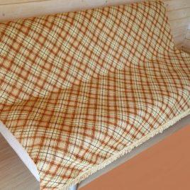 Шотландка (коричневая) 220х160 см — накидка на диван