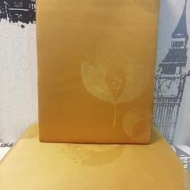Абстрактный лист (золото) 145х280 см — комплект штор