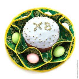 Хризантема (зелёная) d 38 см — салфетка пасхальная