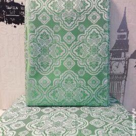Биарриц (травяной) 145х280 см — комплект штор