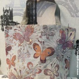 Мотылёк (45х35 см) — сумка гобеленовая