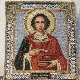 Святой Пантелеймон Целитель (23х26 см) — гобелен без рамки