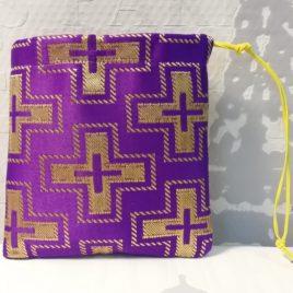 Мешочек Пасхальный (фиолетовый) 15х14 см