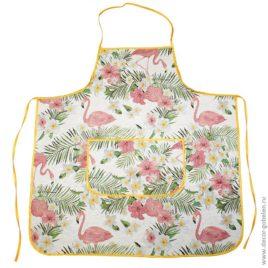 Фламинго (70х75 см) — фартук гобеленовый