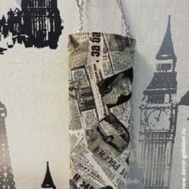 Газета Советская (15х32 см) — сумочка гобеленовая