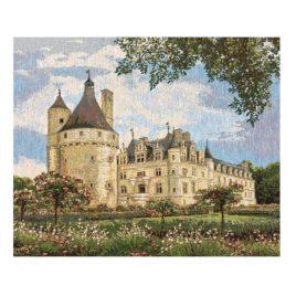 Замок Шенансо (60х50 см) — салфетка гобеленовая