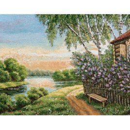 Сиреневый сад (52х38 см) — салфетка гобеленовая