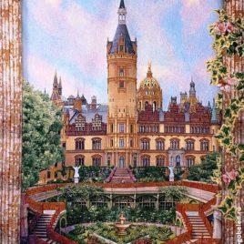 Замок (180х235 см) — скатерть гобеленовая на подкладке
