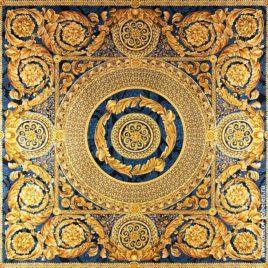Версаль (синий) 235х235 см — панно гобеленовое