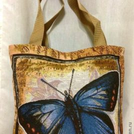 Голубянка (36х36 см) — сумка гобеленовая
