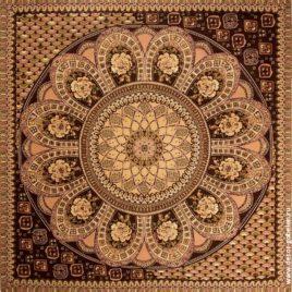 Павлово-Посадский платок (бежевый) 235х235 см — панно гобеленовое