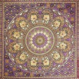 Павлово-Посадский платок (фиолет) 235х235 см — панно гобеленовое
