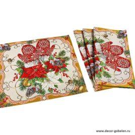 Настроение Рождества (35х35 см) — комплект салфеток 4 шт