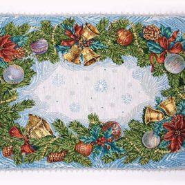 Рождество (50х75 см) — салфетка гобеленовая с тесьмой