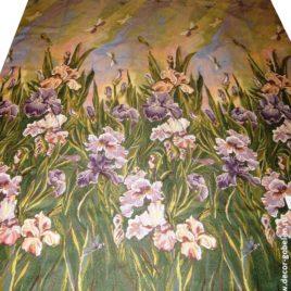 Розово-сиреневые ирисы (150х220 см) — панно гобеленовое
